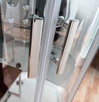Lisna Waters LWSL03 900mm x 900mm Quadrant Steam Shower Cabin EasyFit Fast Build Enclosure - Mirror